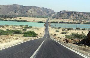 تصویری دیدنی از جاده چابهار