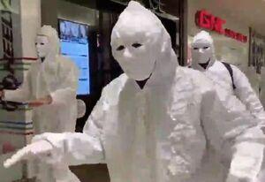 """فیلم/ اعتراض عجیب مخالفان واکسن در """"کانادا"""""""