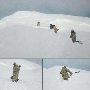 عکس/ مرزبانان ایران در کولاک سنگین شمال غربی کشور