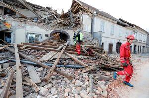 فیلم/ خسارات زلزله مهیب در کرواسی
