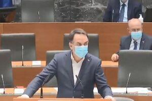 فیلم/ لحظه وقوع زلزله در پارلمان اسلوونی