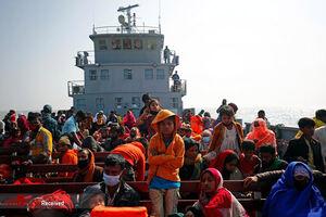 عکس/ انتقال مسلمانان روهینگیا