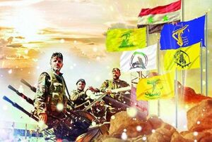 عکس/ سخنرانی رهبران مقاومت در مراسم سالگرد شهید سلیمانی