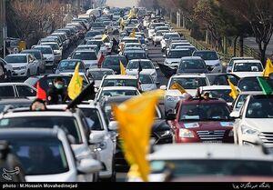 عکس/ دسته عزاداری خودرویی در شهرک قدس تهران