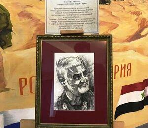 پرتره سردار سلیمانی زینت بخش موزه افتخارات نظامی روسیه