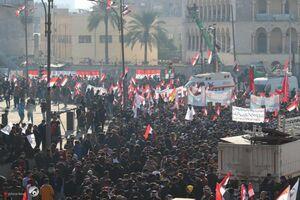 راهپیمایی و تجمع مردم عراق به مناسبت سالگرد شهادت فرماندهان شهید