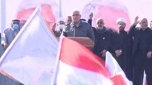 عکس/ سخنرانی «فالح الفیاض» در تجمع بزرگ بغداد