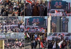 سنگ تمام عراقیها برای سالگرد حاج قاسم و ابومهدی/ ازدحام بیسابقه در ورودیهای پایتخت عراق +عکس و فیلم