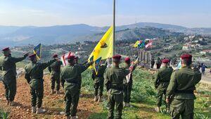 عکس/ اهتزاز تصویر حاج قاسم در مرز فلسطین