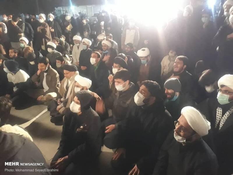 وداع با آیت الله مصباح یزدی در موسسه امام خمینی