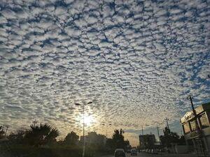 ابرها در آسمان شهر  اربیل