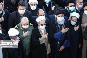 عکس/ حضور شخصیتها در مراسم تشییع آیت الله مصباح یزدی