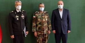 دیدار فرمانده کل ارتش با رئیس مجلس