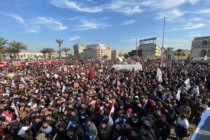 مردم عراق در تظاهرات میلیونی خواستار اخراج نیروهای آمریکایی شدند +عکس