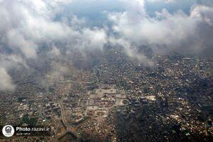 عکس/ در میان ابرها؛ تصویری هوایی از حرم مطهر رضوی