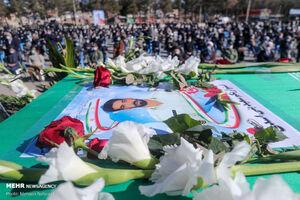 تشییع شهید مدافع وطن سعید بنی اسدی در بیرجند