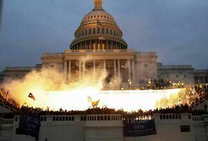 کنگره آمریکا در آتش +عکس