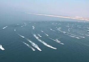 فیلم/ رژه بزرگ شناوری بسیج دریایی در عسلویه