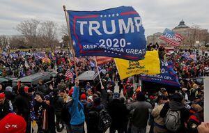 عکس/ حمله حامیان ترامپ به ساختمان کنگره آمریکا