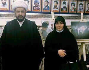 عکس/ دختر سردار سلیمانی در کنار شیخ قیس خزعلی