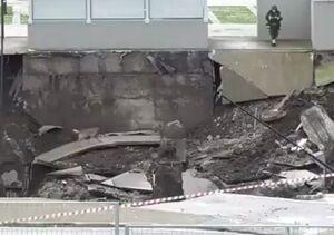 فیلم/ ایجاد حفره بسیار بزرگ در بیمارستان شهر ناپل ایتالیا
