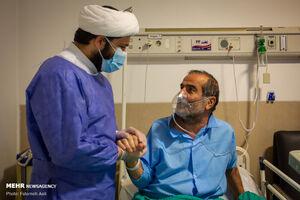 عکس/ طلبههای جهادی در خط مقدم مبارزه با کرونا
