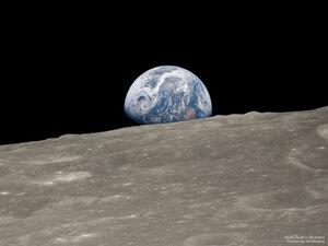 فیلم/ لحظات دیدنی طلوع زمین بر سطح ماه