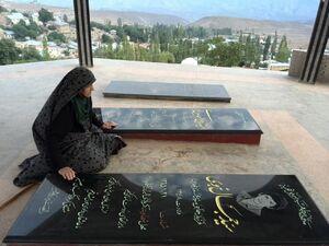 عکس/ مادری که پسرانش در یک روز شهید شدند