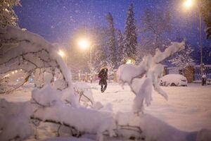بارش برف بیسابقه در اسپانیا