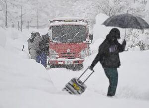 فیلم/ ۱۰کشته بر اثر بارش برف در ژاپن