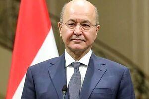 دیدار رئیس جمهور عراق با رئیس سازمان حشد الشعبی