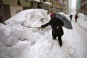 میزان بارش برف در مادرید