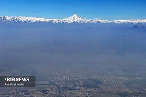 عکس/ دماوند و آلودگی وحشتناک هوای تهران