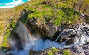 عکس/ آبشار زیبای شلماش در سردشت