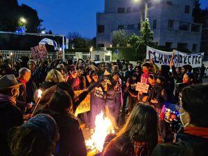 عکس/ تظاهرات صهیونیستها به عقب افتادن دادگاه نتانیاهو