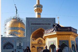 فیلم/ حرم مطهر رضوی در روز شهادت حضرت زهرا(س)