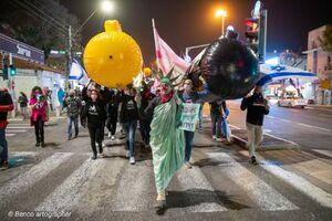 عکس/ تظاهرات صهیونیستها در حیفا
