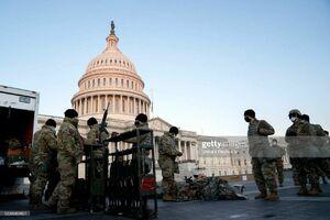 فیلم/ ورود تجهیزات سنگین ارتش به واشنگتن
