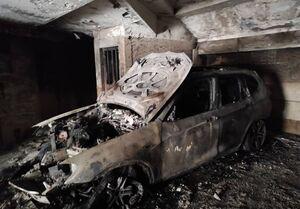 سوختن کامل BMW در آتش+ فیلم و تصاویر