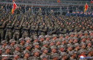 تصاویری از رژه نظامی در پیونگ یانگ