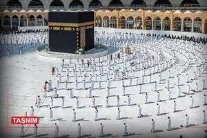 عکس/ طواف در مسجدالحرام با فاصلهگذاری اجتماعی