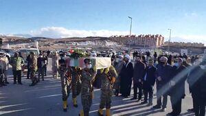 تشییع پیکر شهید گمنام در شهر جدید سهند