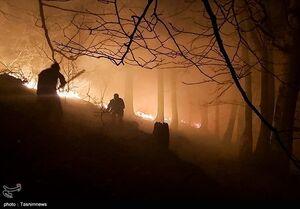 عکس/ آتشسوزی در جنگلهای اشکورات گیلان