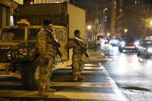 عکس/ گشت زنی گارد ملی در خیابانهای آمریکا