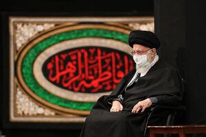 مراسم عزاداری شب شهادت حضرت فاطمه(س) با حضور رهبر انقلاب برگزار شد