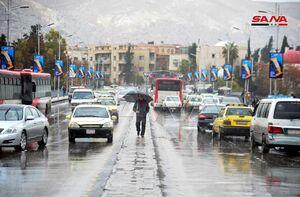 عکس/ بارش باران در دمشق