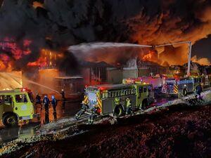 آتش سوزی در منطقه الخرج القدیم عربستان
