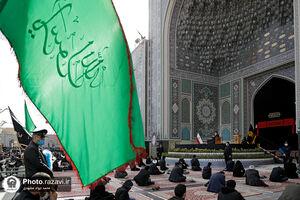 عکس/ مراسم روز شهادت حضرت زهرا(س) در حرم رضوی