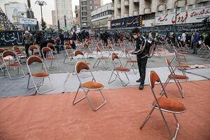 عکس/ عزاداری در میدان فاطمی تهران