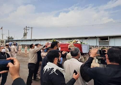 پیکر پاک ۵۵ شهید تازه تفحص شده وارد کشور شد